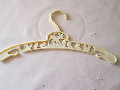 Vintage Child's Yellow Plastic Hanger Cut outs { Bambi Smelling the flowers}