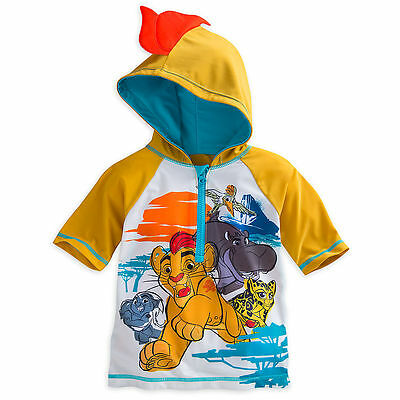 Disney Store The Lion Guard Rash Guard Boys Shirt 50+ UV Protection Size 5/6 7/8