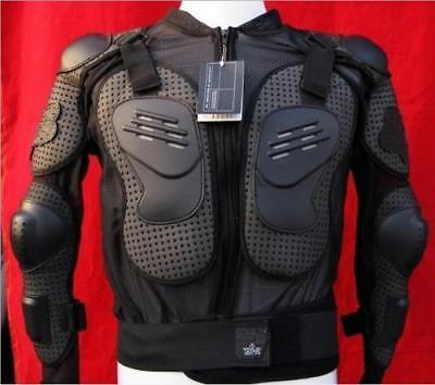 Motorcycle Body Armor Jacket Protection Riding Gear Spine Chest Shoulder Full LC