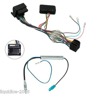 VW VOLKSWAGEN CANBUS INTERFACE STEREO ISO CAR LEAD WITH 12v IGNITION FEED AERIAL