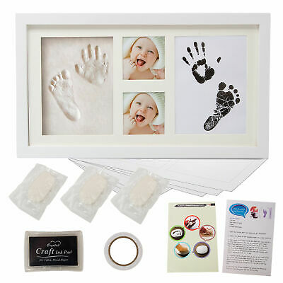 Baby Hand and Foot Print Kit 2D&3D Photo Frame Newborn Unique Keepsake Gifts