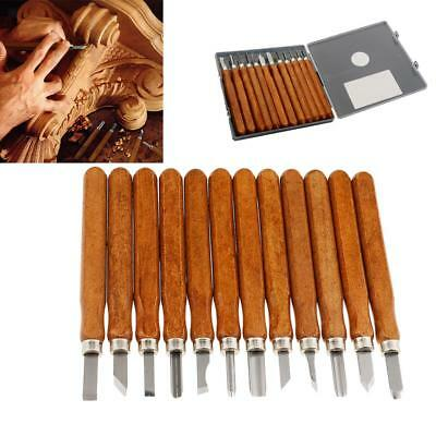 12pcs Wood Carving Set Vintage Chisel Hand Professional Tools for Woodworking
