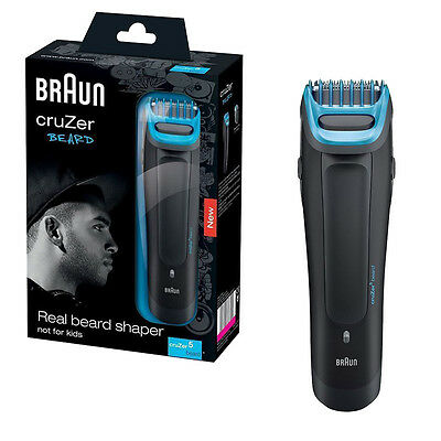 Braun CRZ5BH Cruzer5 Mens Rechargeable Corded/Cordless Beard Trimmer Clipper