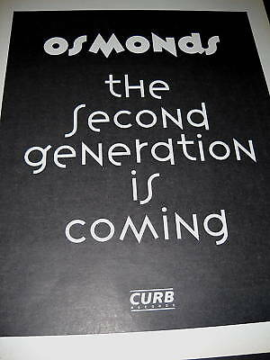 OSMONDS The Second Generation Is Coming 1992 PROMO AD