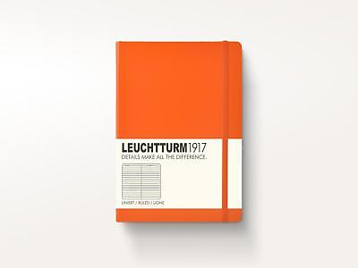LEUCHTTURM1917 A6 185 Pages LINED Hardcover Pocket Notebook Various Colours