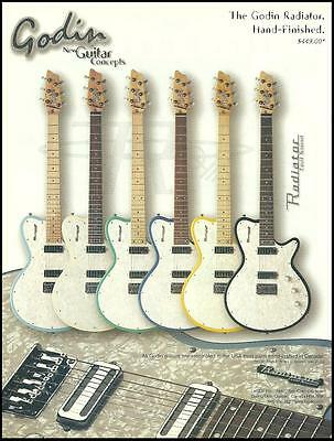 The Godin Radiator Cool Sound Series electric guitars ad 8 x 11 advertisement