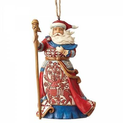 Jim Shore Heartwood Creek Lapland Santa Christmas Hanging Ornament 4058814