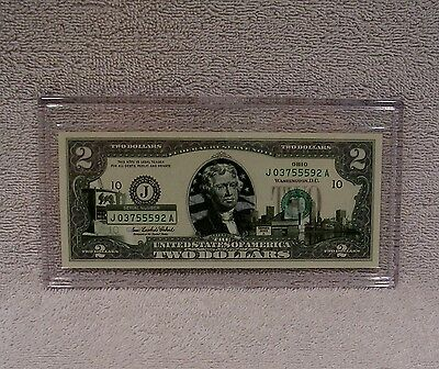 Ohio  $2 Two Dollar Bill - Colorized State Landmark - Uncirculated Authentic