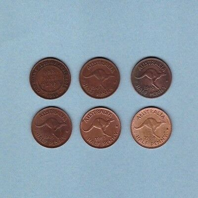 Australia - Half Penny - Coin Collection - Lot #A - World/Foreign/Oceania
