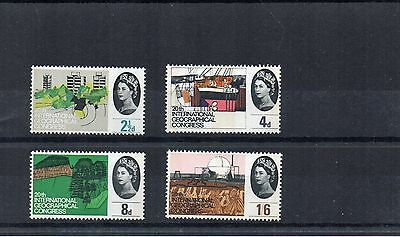 1964 GB GEOGRAPHICA Stamps PHOSPHOR Set 4v UNMOUNTED MINT SG651p-54p Our Re:X571