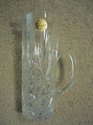 CRISTAL d'ARQUES LEAD CRYSTAL PITCHER- Starburst Design- 12 oz - Made in France