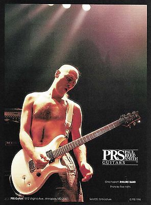 Chris Haskett (Henry Rollins Band) PRS guitar ad 8 x 11 advertisement print