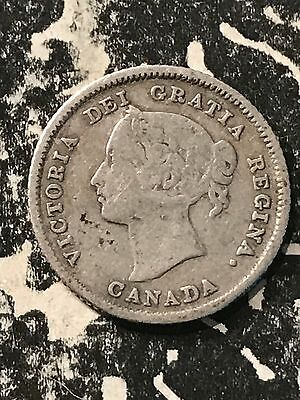 1882-H Canada 5 Cents Lot#5384 Silver!