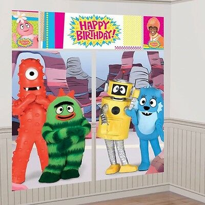 YO GABBA GABBA WALL POSTER DECORATING KIT (5pc) ~ Birthday Party Supplies Muno