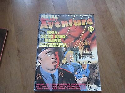 JOURNAL BD METAL HURLANT AVENTURE 3 chaland kent mini album non monte