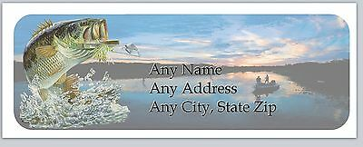 30 Personalized Address Labels Fishing Buy 3 get 1 free (ac 893)
