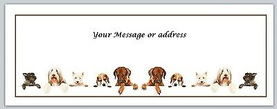 30 Personalized Return Address Labels Dogs Buy 3 get 1 free (ct 245)