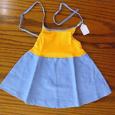 Girls summer sun dress Age 1-2 years UNUSED vintage 1970s Ladybird halter neck