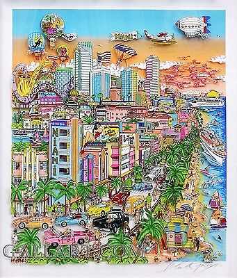 "Charles Fazzino ""bienvenidos A Miami"" 2002 