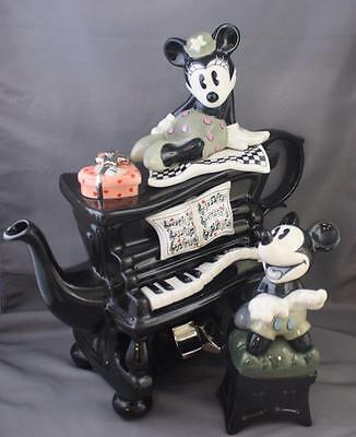 Limited Edition Paul Cardew Minnie Mickey Mouse Piano Teapot Disney Showcase