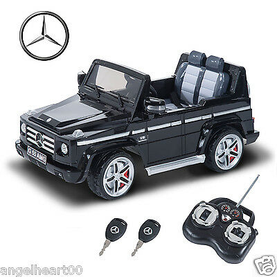 Mercedes-Benz G55 12V Kids Toy Ride-On Car Truck Remote Control - Black