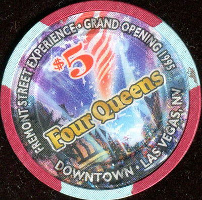 $5 Las Vegas Four Queens Grand Opening Casino Chip - Uncirculated