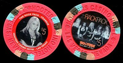 $5 Las Vegas Hooters The Rat Pack Frankie Casino Chip - Uncirculated