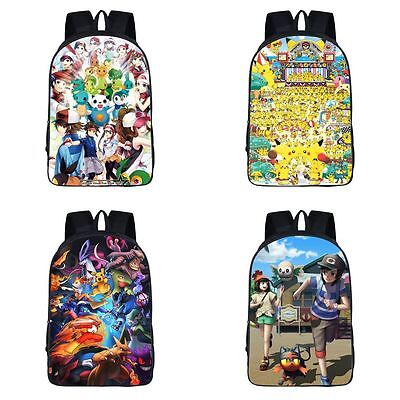 Neu Pokémon Pikachu Pocket Monsters Anime Tasche Backbag Rucksack Bag 42x29x16CM