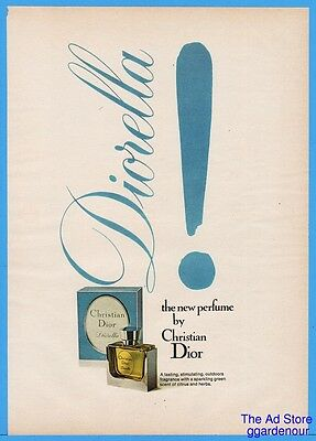 1973 Christian Dior Diorella Perfume Bottle Fragrance Vintage Color Print Ad