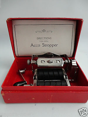 Antique Vintage KANNERS Dubeledge Razor Stropper PATENT APPLIED FOR Acco Box