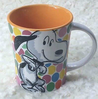 Snoopy Coffee Mug 15 oz Peanuts Festive Sketch Collection