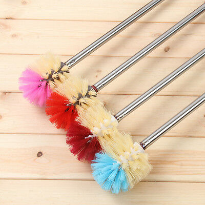 Bathroom Wash Cleaning Toilet Brush Set With Stainless Steel Handle Holder