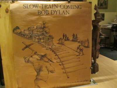 BOB DYLAN - Slow Train Coming - large 42 x 52 inches  Rare POSTER
