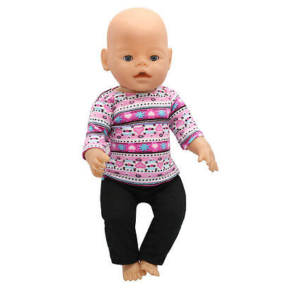 1set Doll Clothes Wear for 43cm Baby Born zapf (only sell clothes ) MG-188