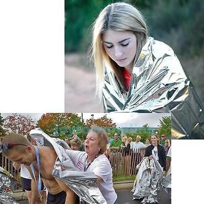 Waterproof Foil Space Emergency Survival Blanket Thermal First Aid Rescue Silver