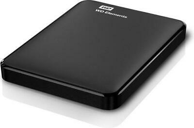Western Digital Elements portable 1TB, USB 3.0 externe Festplatte, Schwarz
