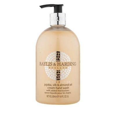Baylis & Harding Jojoba Silk and Almond Oil 500ml Hand Wash x 4 FREE P&P