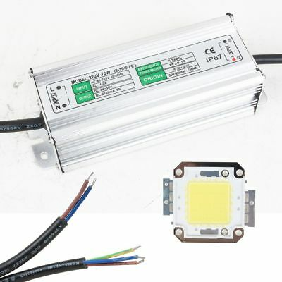 70W Waterproof Led Driver Power Supply + 70W Pure White LED SMD Chip Light
