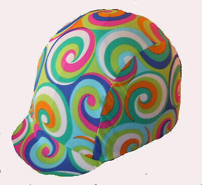 Ecotak Lycra Helmet Cover - Coloured Swirls Ecotak