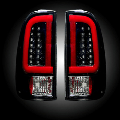 Recon 264293BK Set of 2 Smoked LED Tail Lights for Ford F-250/F-350 Super Duty