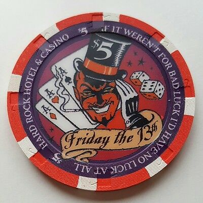 $5 Las Vegas Hard Rock Friday the 13th 2004 Casino Chip - UNCIRCULATED
