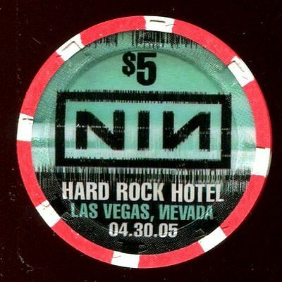 $5 Las Vegas Hard Rock NIN Casino Chip - Uncirculated