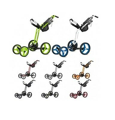 *new 2017* Sun Mountain Micro Cart Gt 4 Wheel Push Trolley (Choice Of Colours)
