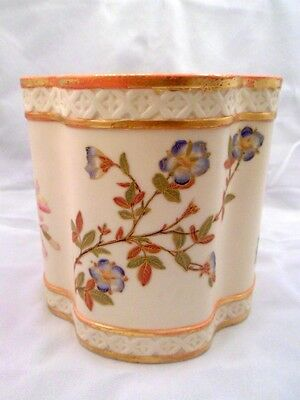 Antique Royal Worcester Porcelain Biscuit Barrel, 1889