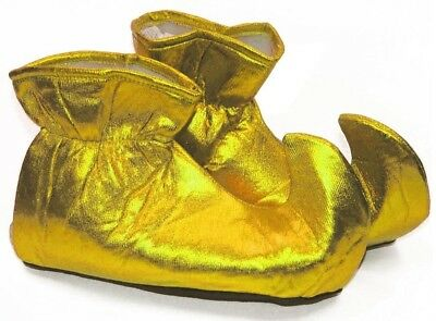 Christmas Elf Cloth Costume Shoes: Gold One Size Fits Most