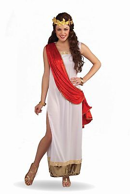Empress of Rome Cost. Dress w/Attached Red Drape Adult Standard