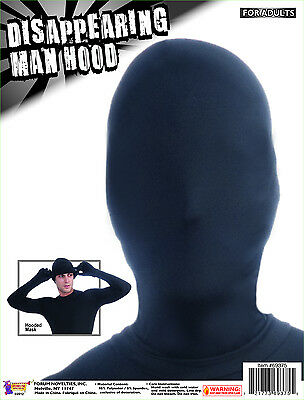 Disappearing Man Costume Hood: Black One Size
