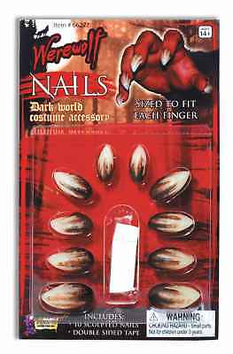 Deluxe Werewolf Finger Claws/Nails Costume Accessory