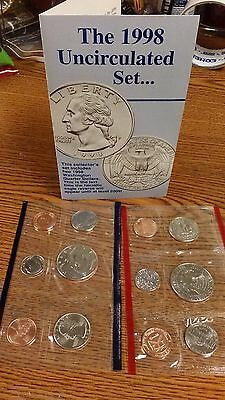 United States Mint Uncirculated Coin Set 1998 New In Original Package