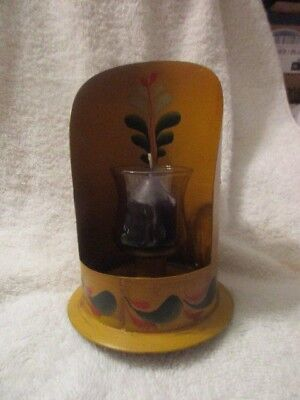 Antique Toleware Wall Sconce Candle Holder Vintage Tole Ware Piece